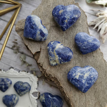 Load image into Gallery viewer, Natural Blue Sodalite Gemstone Hearts