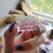 Load image into Gallery viewer, Rainbow Fluorite Carved Lotus