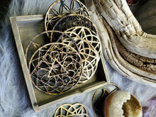 Load image into Gallery viewer, Sacred Geometry Wooden Sphere Stand