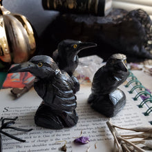 Load image into Gallery viewer, Black Onyx Carved Raven