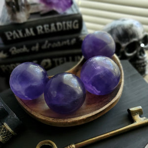 Natural Purple Indigo Fluorite Spheres
