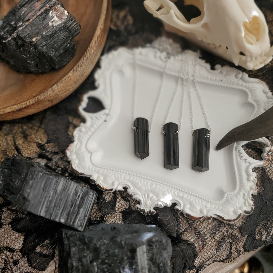 AAA Simple Black Tourmaline Pendants
