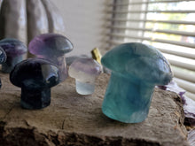 Load image into Gallery viewer, Natural Rainbow Fluorite Crystal Mushrooms