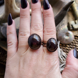 Star Garnet Electroformed Statement Ring