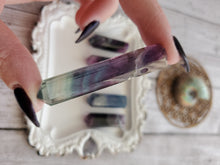 Load image into Gallery viewer, Natural Rainbow Fluorite Crystal Necklace