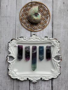 Natural Rainbow Fluorite Crystal Necklace