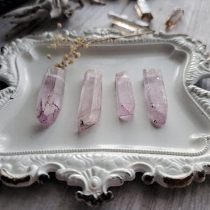 Simple Natural Pink Kunzite Necklace
