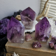 Load image into Gallery viewer, Half Polished Smokey Amethyst Phantom Towers
