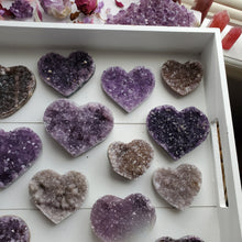 Load image into Gallery viewer, Natural Amethyst Crystal Hearts
