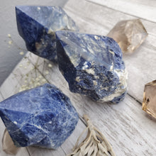 Load image into Gallery viewer, Natural Blue Sodalite Half Polished