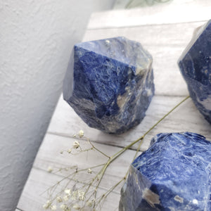 Natural Blue Sodalite Half Polished