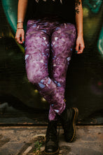 Load image into Gallery viewer, Purple Amethyst Eco Poly Crystal Statement Leggings