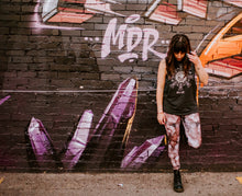 "Load image into Gallery viewer, ""Capri"" Pink Amethyst Eco Poly Crystal Statement Leggings"