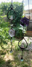 Load image into Gallery viewer, Electroformed Natural Quartz Crystal Fluorite Gem Gemstone Prism Sun Catcher Light Catcher