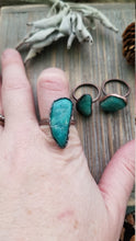 Load image into Gallery viewer, Pure Copper Amazonite Electroformed Gemstone Statement Rings