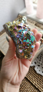 Rainbow Titanium Treated Aura Quartz Crystal Clusters