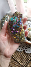 Load image into Gallery viewer, Rainbow Titanium Treated Aura Quartz Crystal Clusters
