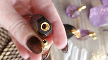 Load image into Gallery viewer, Ametrine Smokey Quartz Crystal Poison Essential Oil Hollow Bottle Vial Necklace