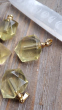 Load image into Gallery viewer, Natural Citrine Hexagon Crystal Poison Essential Oil Hollow Bottle Vial Necklace