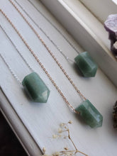 Load image into Gallery viewer, Natural Green Aventurine Good Fortune Prosperity Gemstone Minimalist Pendant Necklace