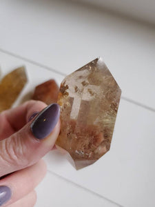 Naturally Rutilated Double Terminated Quartz Included Crystals