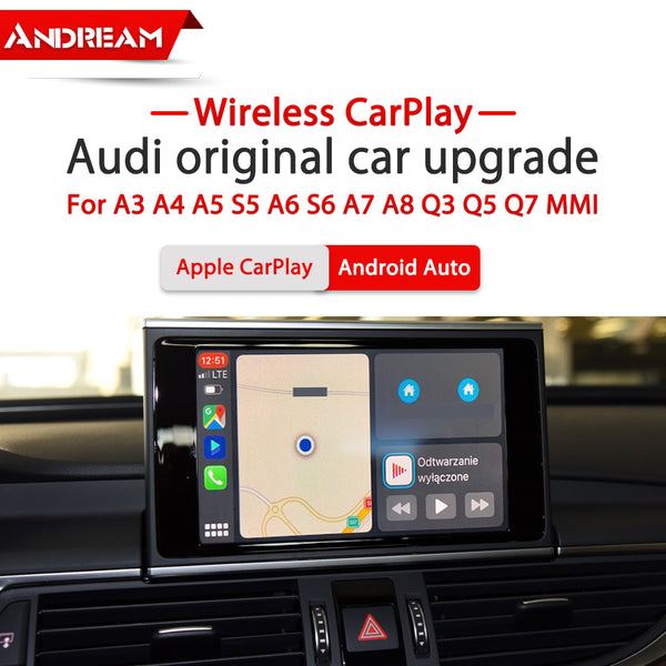 Беспроводное мультимедиа CarPlay / Android Auto для Audi A3 A4 A5 S5 A6 S6 A7 A8 Q3 Q5 Q7 MMI 3G/3G+ поддерживает IOS AirPlay Mirror Link