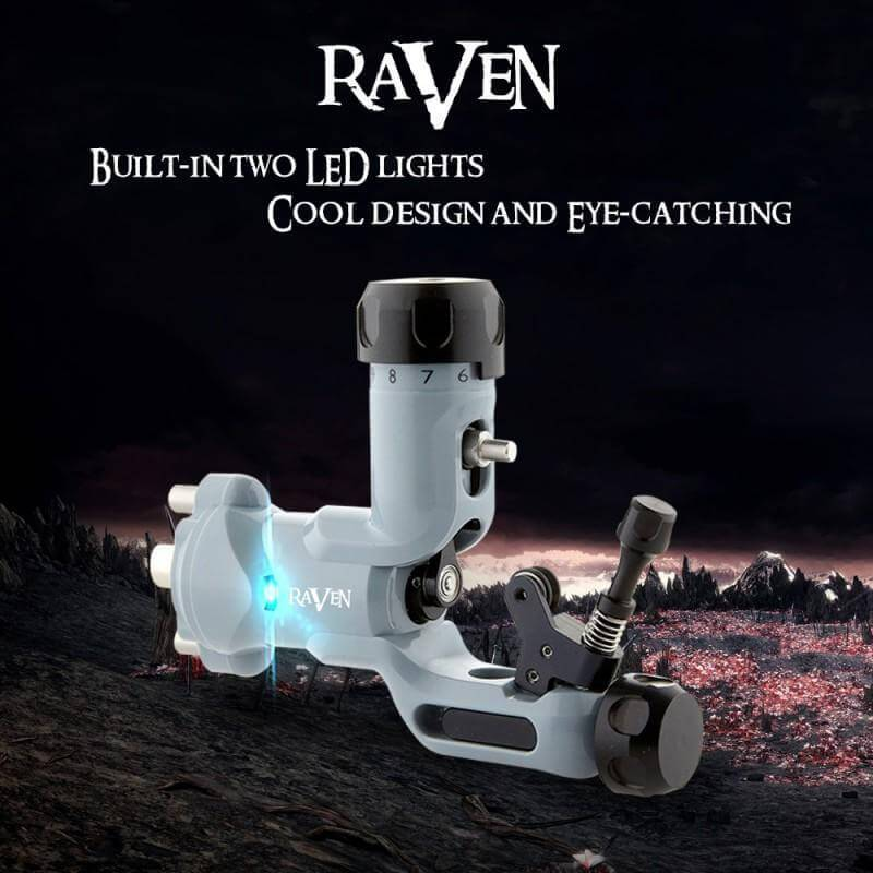 Dragonhawk Raven Rotary Tattoo Machine Kit