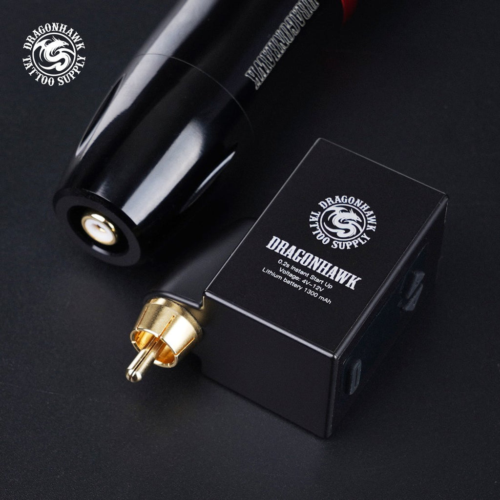 Dragonhawk B1 Wireless Tattoo Battery Power Supply RCA Connect