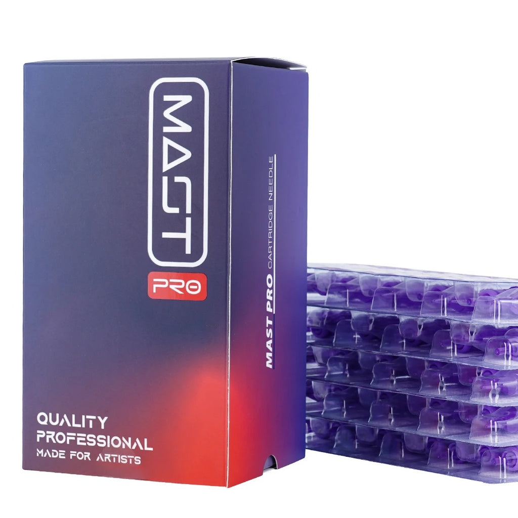 Mast Pro Tattoo Cartridges Needles 50Pcs Mixed Size Round Liner 0.35mm