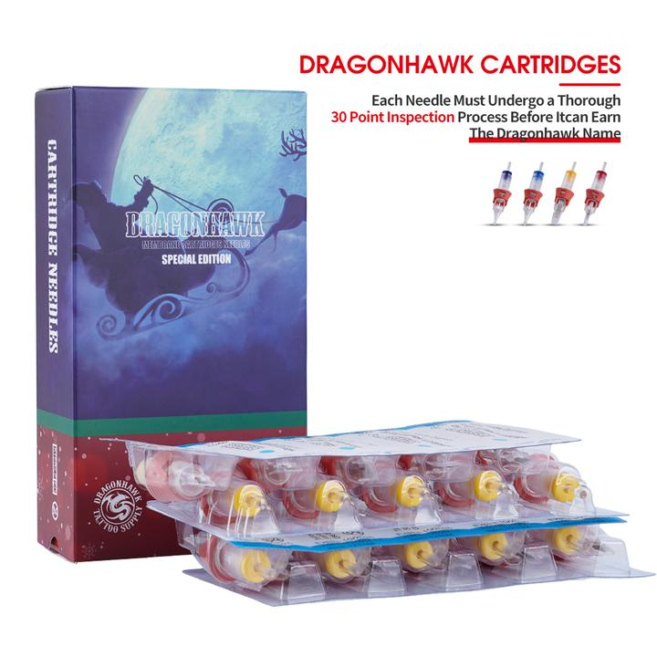Dragonhawk Tattoo Christmas Gift Cartridges 0.35mm Magnum