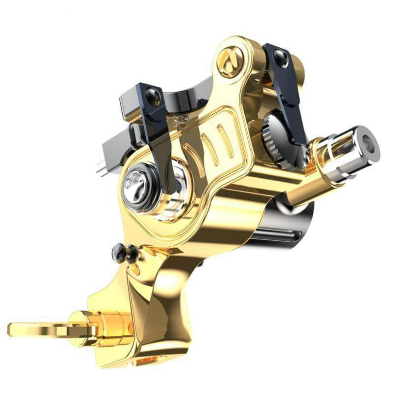Dragonhawk EX-2 Rotary Tattoo Machine Brass Frame Machine RCA Connected for Tattoo Artists