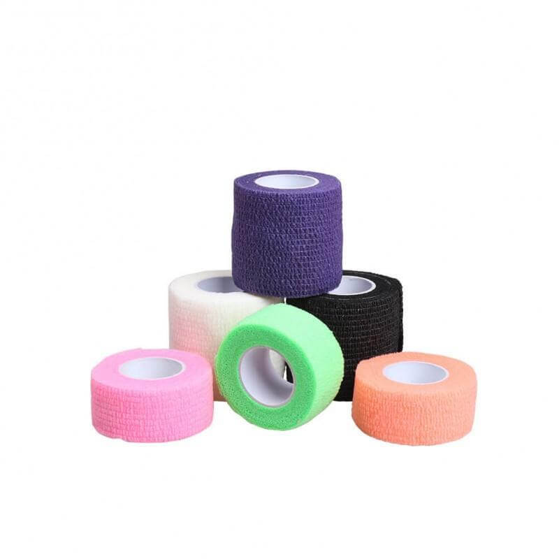 Tattoo tape grip Cover Anti-slip Self-adhesive Elastic Bandage 5Pcs Color Random