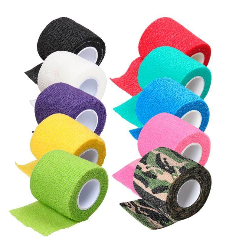 Tattoo tape grip bandage handle mix color 5pcs