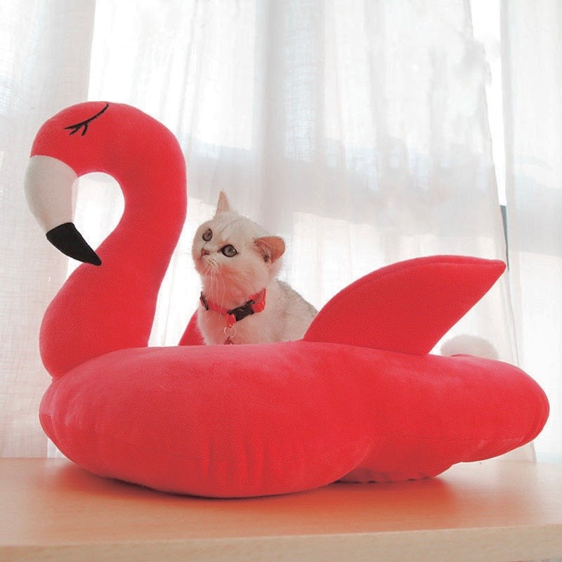 Flamingo Cat Bed - Petites Paws