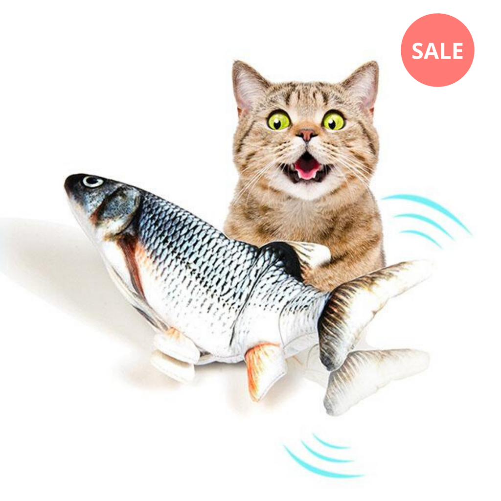 Dancing Fish Catnip Kicker Toy - Petites Paws