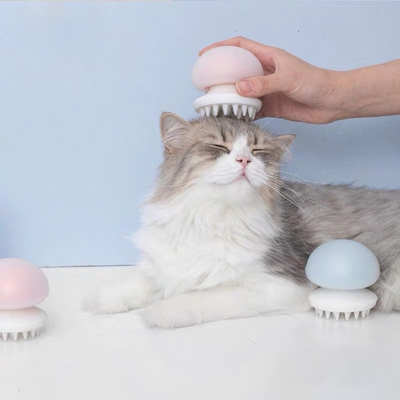 Jellyfish Massage Pet Brush - Petites Paws