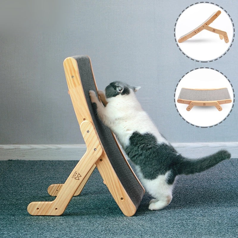 Transformer Wooden Cat Scratcher - Petites Paws
