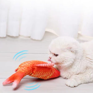Dancing Fish Catnip Kicker Toy (Goldfish) - Petites Paws