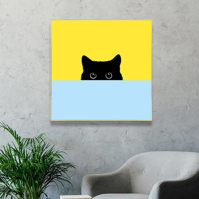 The Rise of the Void Black Cat Art Print - Petites Paws