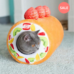 Swiss Roll Soft Cat Tunnel Bed - Petites Paws