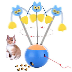 Auto-spinning Treat Dispenser with Laser Cat Toy - Petites Paws