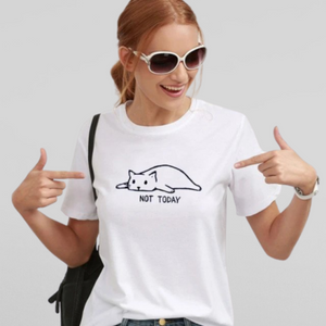 Not Today Lazy Cat T-Shirt - Petites Paws