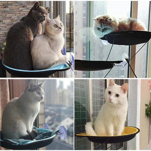 Kitty-shaped Pet Hammock with Window Mount - Petites Paws