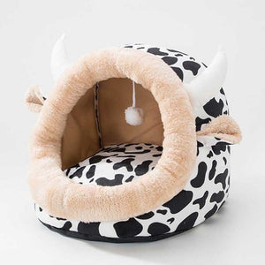 Plushy Pet Bed with Bom-Bom Ball - Petites Paws