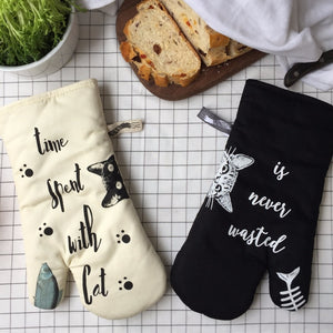 Kitty Oven Gloves - Petites Paws