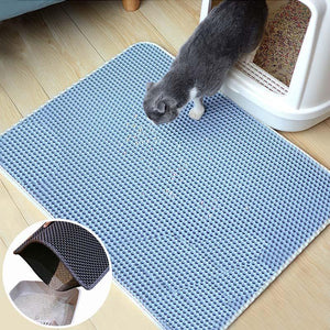 Double Layer Waterproof Cat Litter Mat - Petites Paws