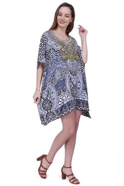 Women's Kaftan Suitable for Standard to Plus Size 158-Black