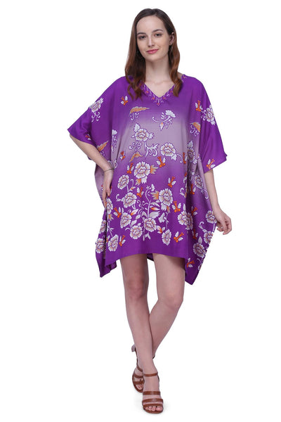 Women's Kaftan Suitable for Standard to Plus Size 159-Purple