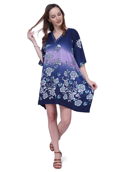 Women's Kaftan Suitable for Standard to Plus Size 159-Blue