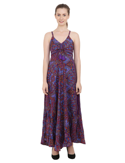 Women Casual Boho Style Maxi Dresses in Two Sizes (P82)